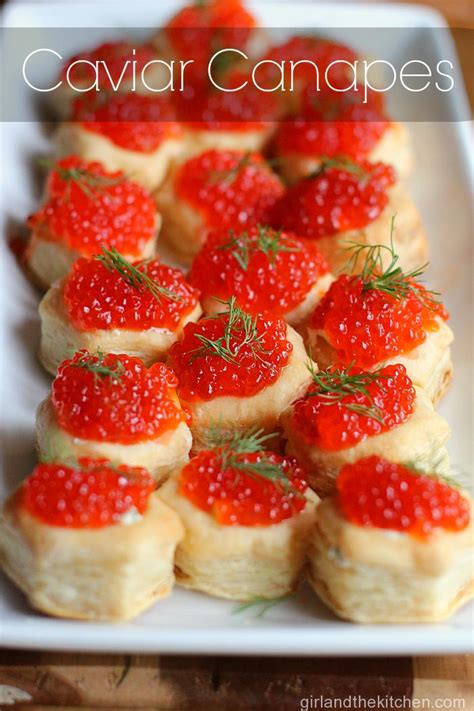 canapes appetizers