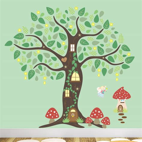 forest nursery wall decals folk enchanted tree nursery wall stickers