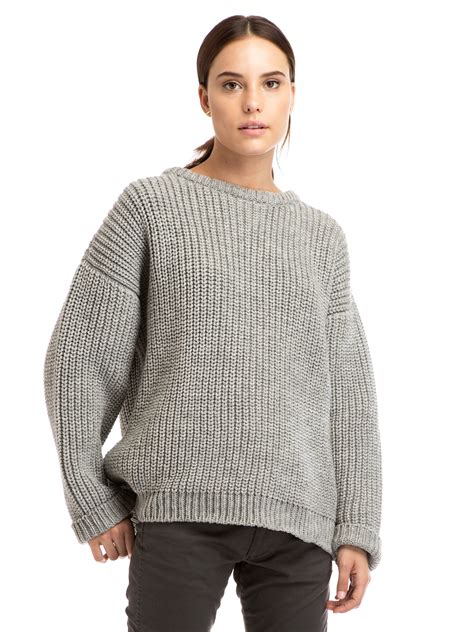 knit a sweater zady 09 09 grey chunky knit sweater zady