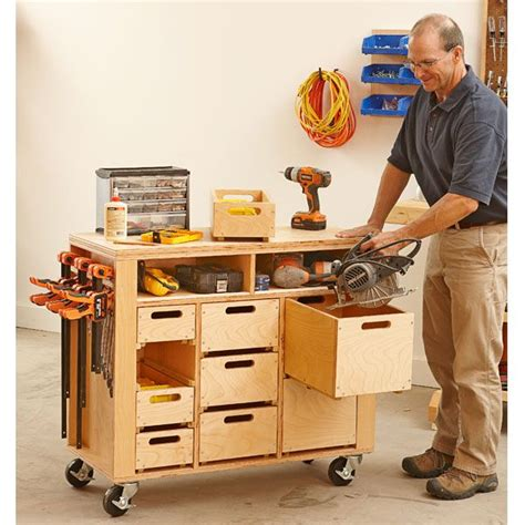 mobile woodworking shop wheel easy shop in a box basement garage storage