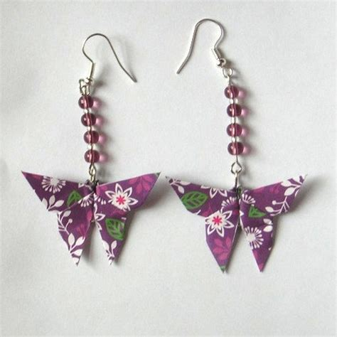 how to make origami jewelry origami butterfly earrings by sakuralu83 on deviantart