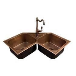 kitchen corner sinks hammered copper bowl drop in corner sink kitchen