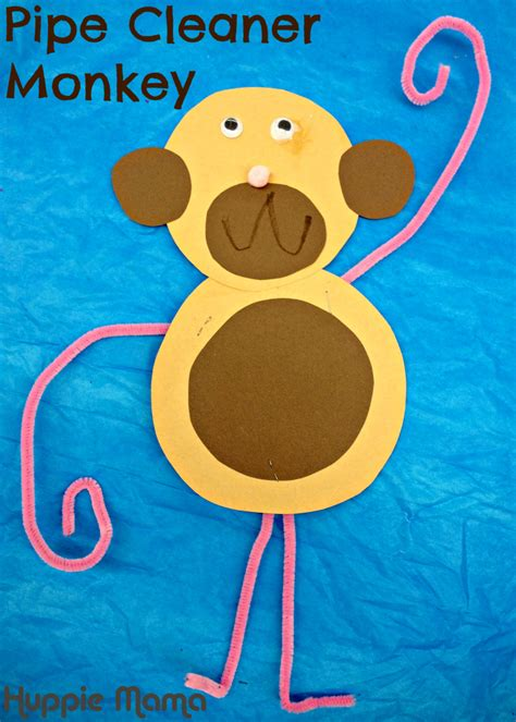 pipe cleaner crafts for pipe cleaner monkey preschool craft animal learning