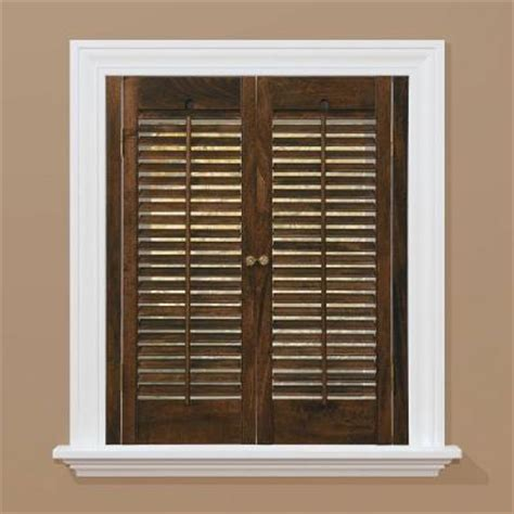 window shutters interior home depot homebasics traditional real wood walnut interior shutter price varies by size qstd2336 the