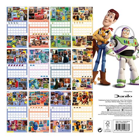 2018 disney pixar wall calendar day pixar calendars 2018 on abposters