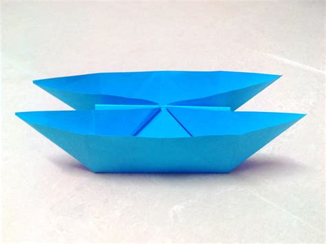 origami sailboat that floats how to make an origami catamaran boat step by step