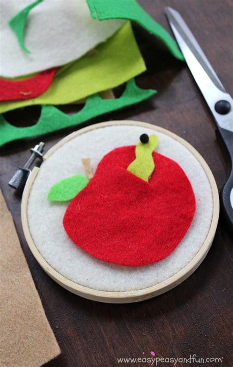 easy felt crafts felt apple craft back to school crafts for easy