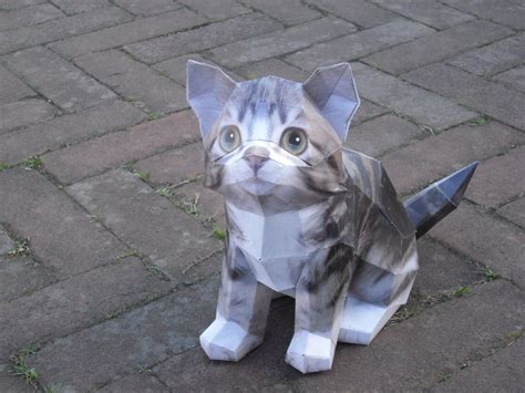 cat paper craft cat papercraft by timbauer92 on deviantart