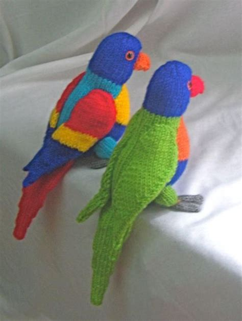 Parrot With Pirate Accessories Knitting Pattern