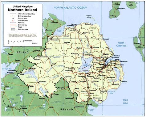 northern ireland map of northern ireland nations project