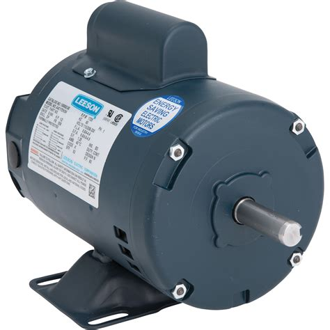 1 Hp Electric Motor by Leeson Electric Motor 1 2 Hp 1725 Rpm 115 208 230