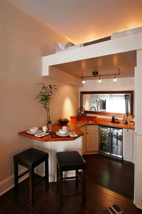 kitchen designs for small houses beautiful small kitchen with upstairs sleeping loft tiny