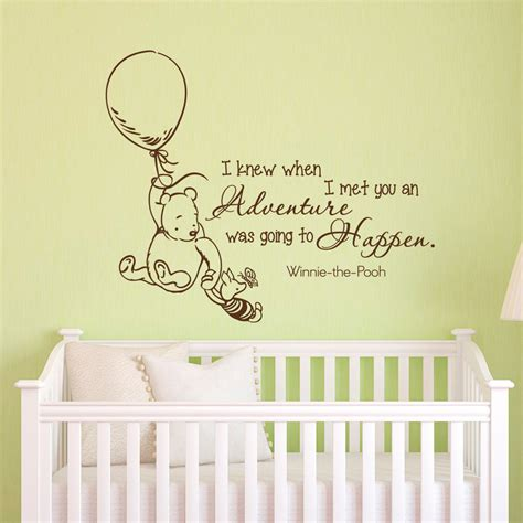 classic winnie the pooh wall decals for nursery wall decals quotes classic winnie the pooh i knew by