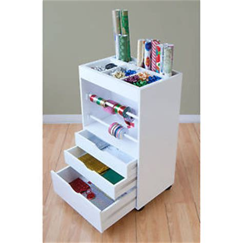 and crafts organizer craft storage caddy wrapping paper cart ribbon