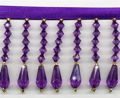 purple beaded fringe trim purple 14 colors of decor beaded fringe trim