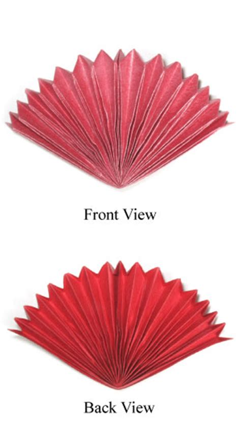 origami fan how to make a peacock origami fan page 1