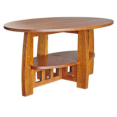 arts and crafts coffee table plans limbert style coffee table woodworking plan from wood magazine