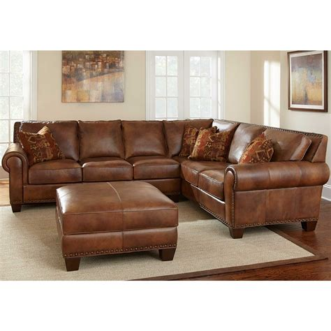 leather sectional living room furniture furniture awesome leather brown sectional couches design