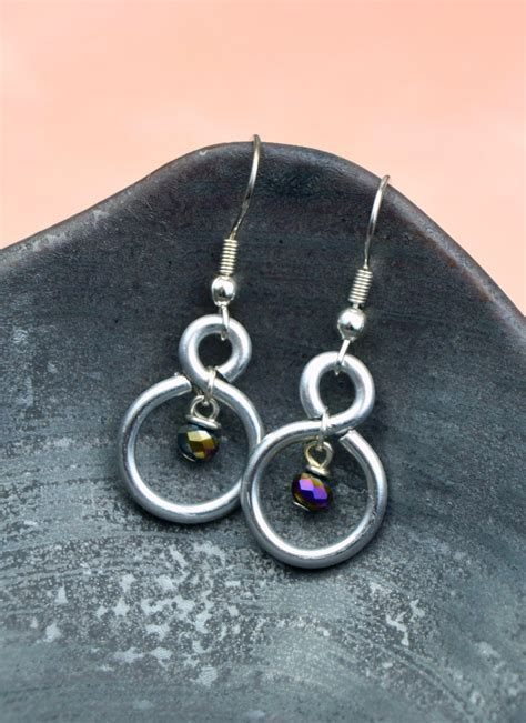 earrings with wire figure eight wire earrings happy hour projects