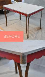 spray paint kitchen table retro kitchen table before and after visualheart