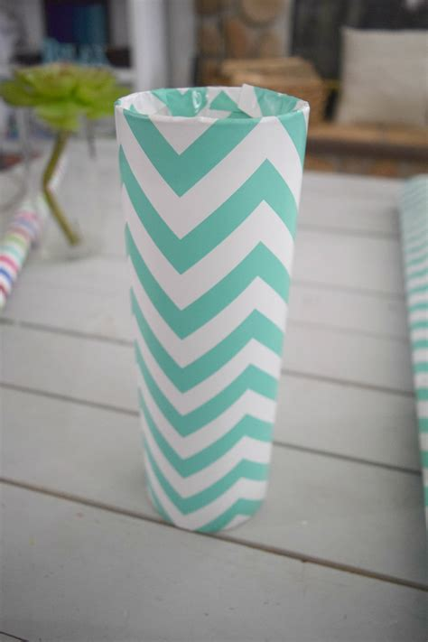 paper vase craft diy my glass vase and wrapping paper craft our
