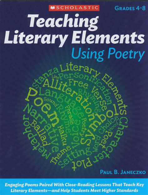 teaching literary elements with picture books teaching literary elements using poetry reproducible book