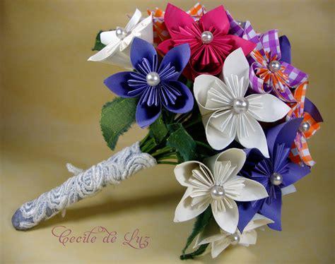 how to make origami bouquet origami 1 bouquet cecile de luz flores e arte em