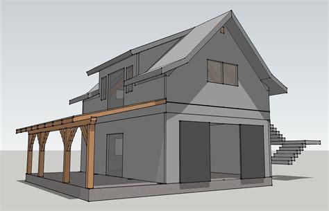 a frame house plans with garage opossum creek cabin a timber frame garage