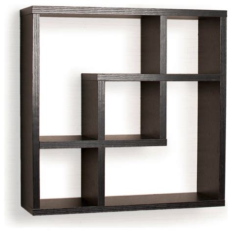 contemporary wall shelves geometric square wall shelf with 5 openings contemporary