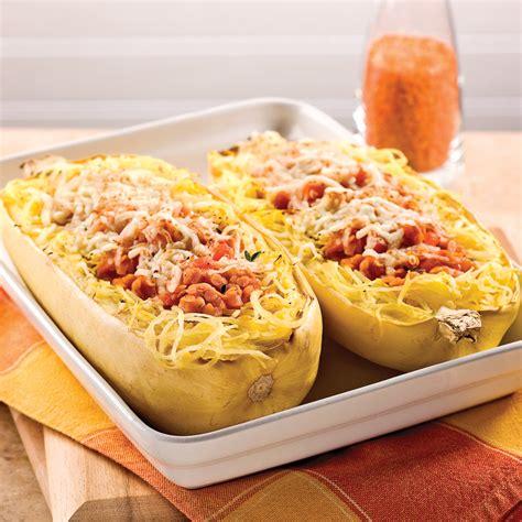 courge spaghetti et sauce aux lentilles corail recettes cuisine et nutrition pratico pratique