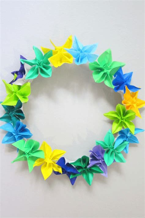 wreath origami how to make a wreath using origami flowers