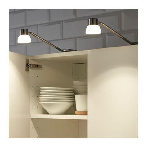 ikea cabinet lights lindshult led cabinet lighting nickel plated ikea