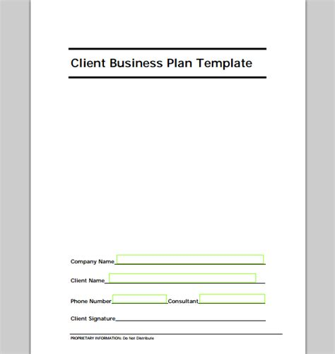 new business plan template sample templates
