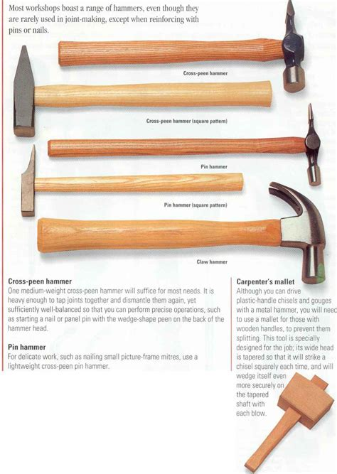 woodworking hammers hammers and mallets machine cut joint woodworking archive