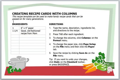 how to make index cards in word 2013 photo templates for recipe cards images