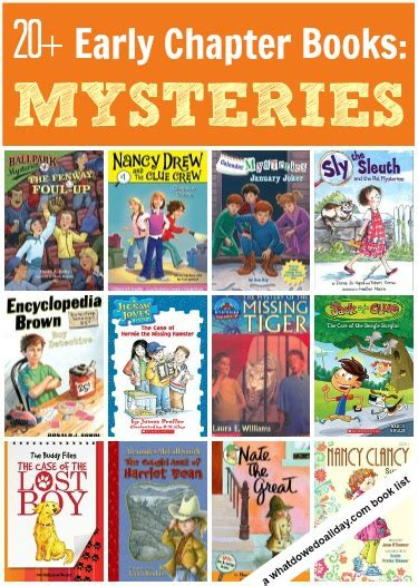 mystery picture books for chapter books series about boys