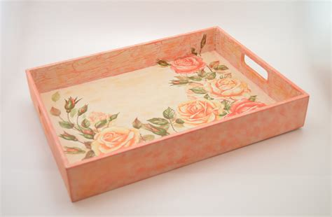 decoupage photos onto wood wooden decoupage tray wooden tray decoupage tray shabby