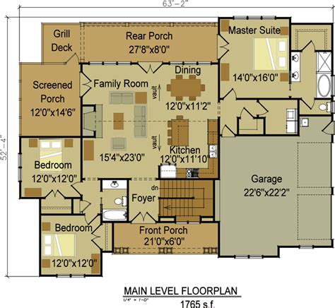 floor plans aflfpw76173 1 story craftsman home with one or two story craftsman house plan country craftsman