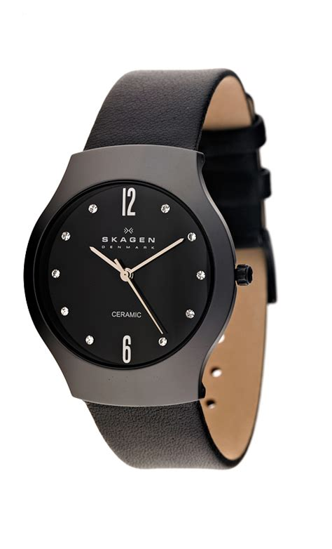 womens watches leather band skagen watches
