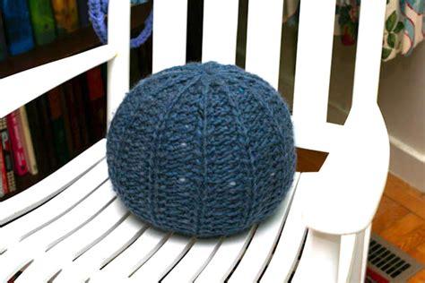 pouf pattern knit knit pouf a la cart