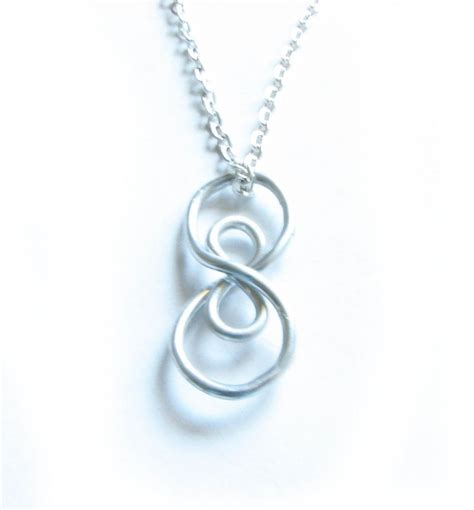 silver plated wire for jewelry silver vertical infinity necklace wire wrapped silver