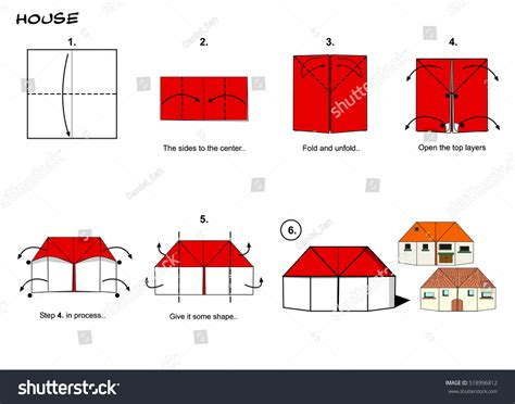 origami 3d house origami house 3d image collections craft