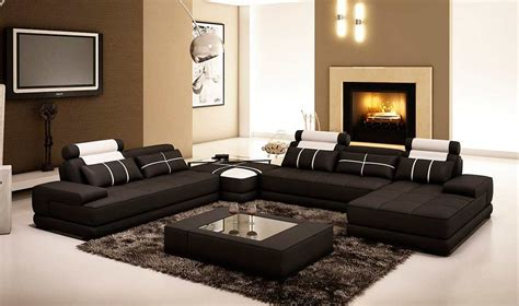 coffee table sofa black leather sectional sofa with coffee table vg005d
