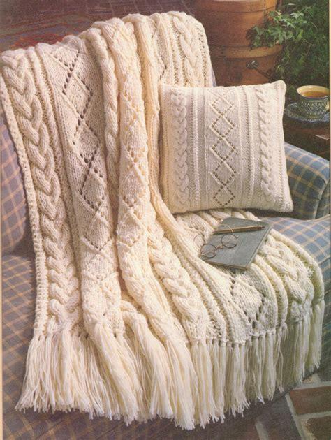free aran knitting patterns for cushions beautiful aran diamonds 14 quot cushion throw 44 quot x 59