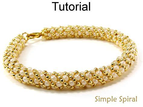 spiral beading russian spiral stitch beading pattern jewelry