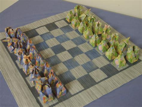 origami chess set origami chess set 171 embroidery origami