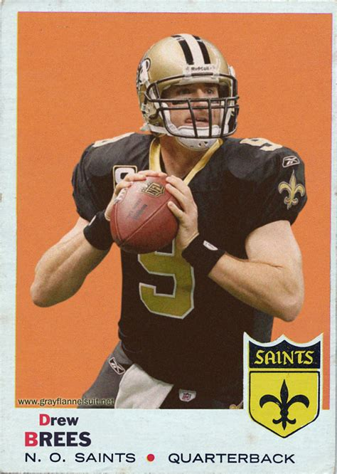 how to make a football card retro football cards drew brees topps 1969 style