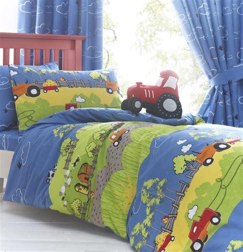 boys hilltop farm yard tractor bedding duvet quilt