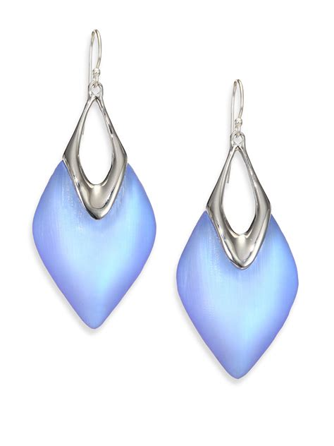 how to make lucite jewelry bittar lucite glacial drop earrings in metallic lyst
