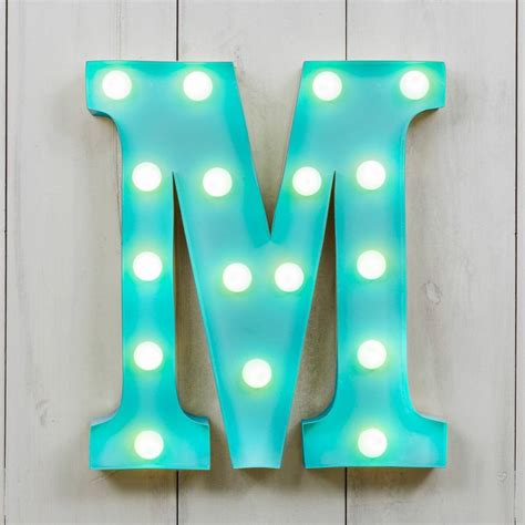 original lights vegas metal led circus letter light m by all things